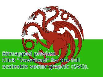 Targaryen Welsh Flag vector (Original: Natestarke) by I-Do-Care