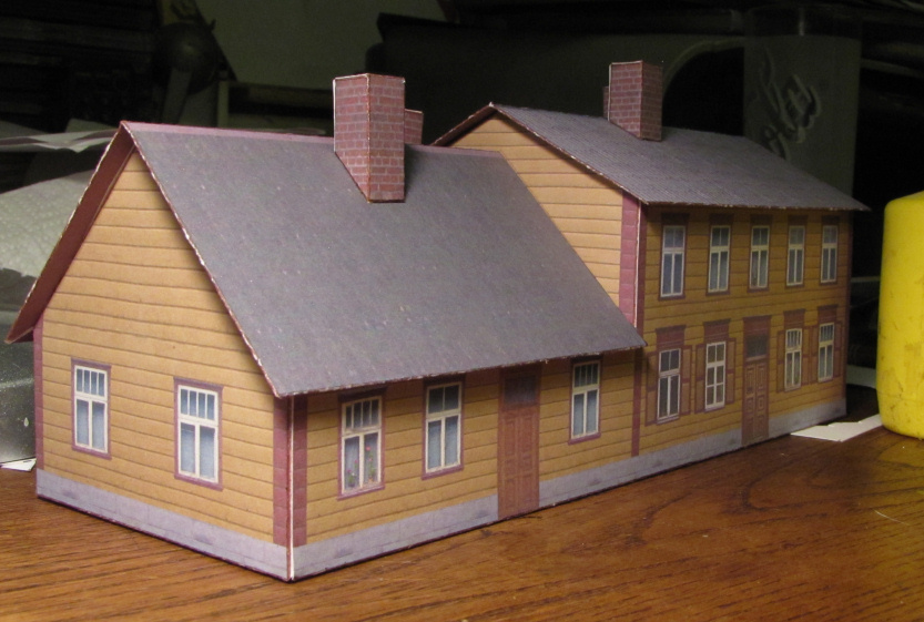 Yellowhouse1 by soobel on deviantart for Building model houses