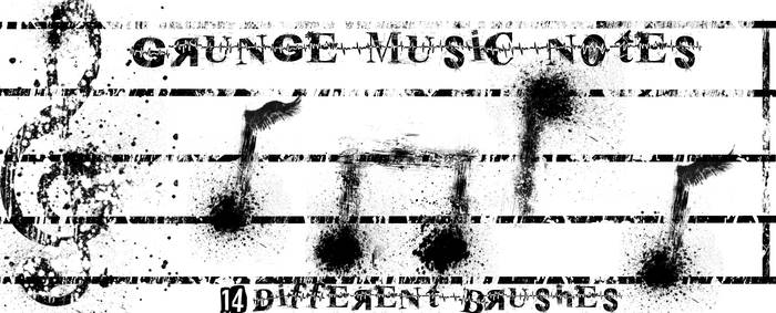 Grunge Music Note Brushes