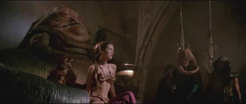 Slave Leia gets choked by Jabba GIF