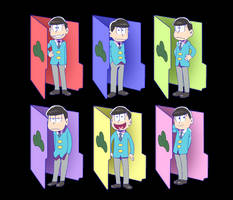 Osomatsu-san Folders for windows by nightfright9
