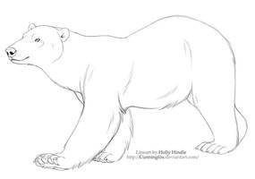 Free lineart- Polar Bear by Bear-hybrid