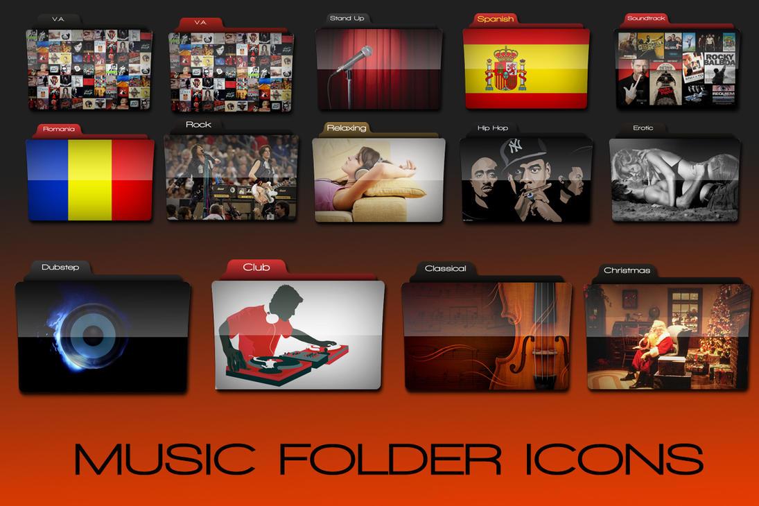 Music Folder Icons by yoyo-rally