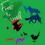 Animal brushes - free to use!