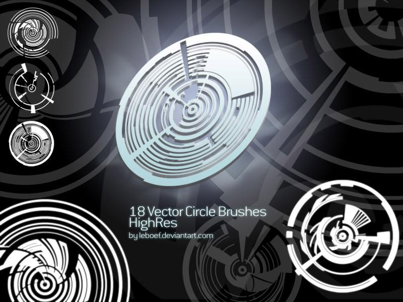 Vector Circles Brush Set