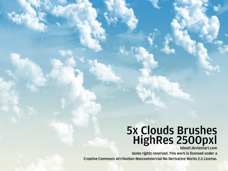 Cloud Brushes HiRes Nr.3 of 5 by leboef on DeviantArt