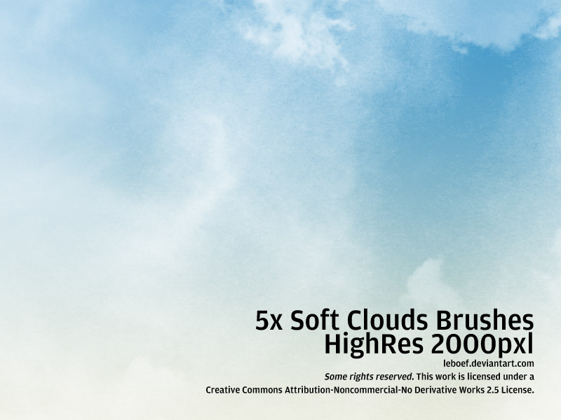 Cloud Brushes HiRes Nr.4 of 5