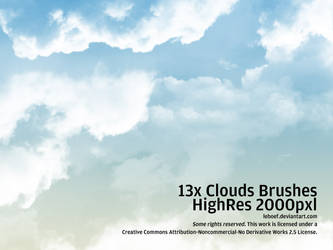 Cloud Brushes HiRes Nr.5 of 5 by leboef