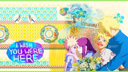 Minato and Naruto and Kushina (Wallpaper)