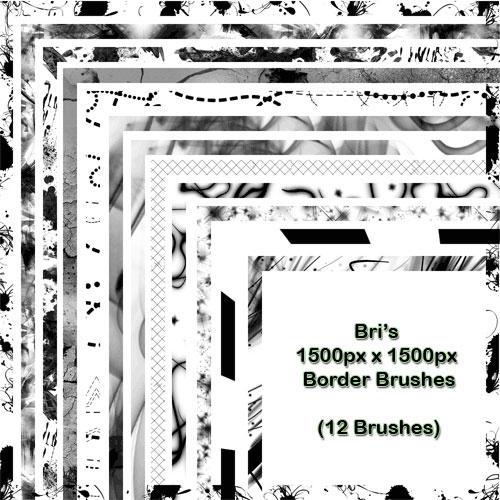 Bri's 1500px Border Brushes by rabidbribri