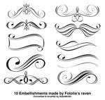 10 Embellishment Brushes by Fotolia's Raven