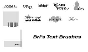 Bri's Text Brushes