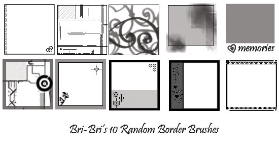 10 Random Border Brushes