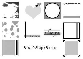 Bri's 10 Shape Borders by rabidbribri