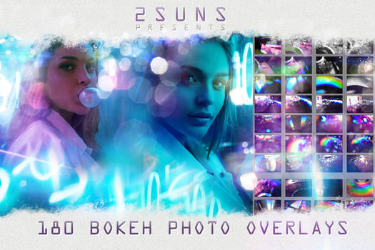 180 BOKEH HOLOGRAPHIC OVERLAYS light effects photo