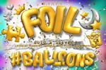 Foil Balloons, Letters, Alphabet, Numbers, symbols