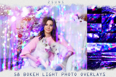 Bokeh overlays textures background christmas by 2SUNS1