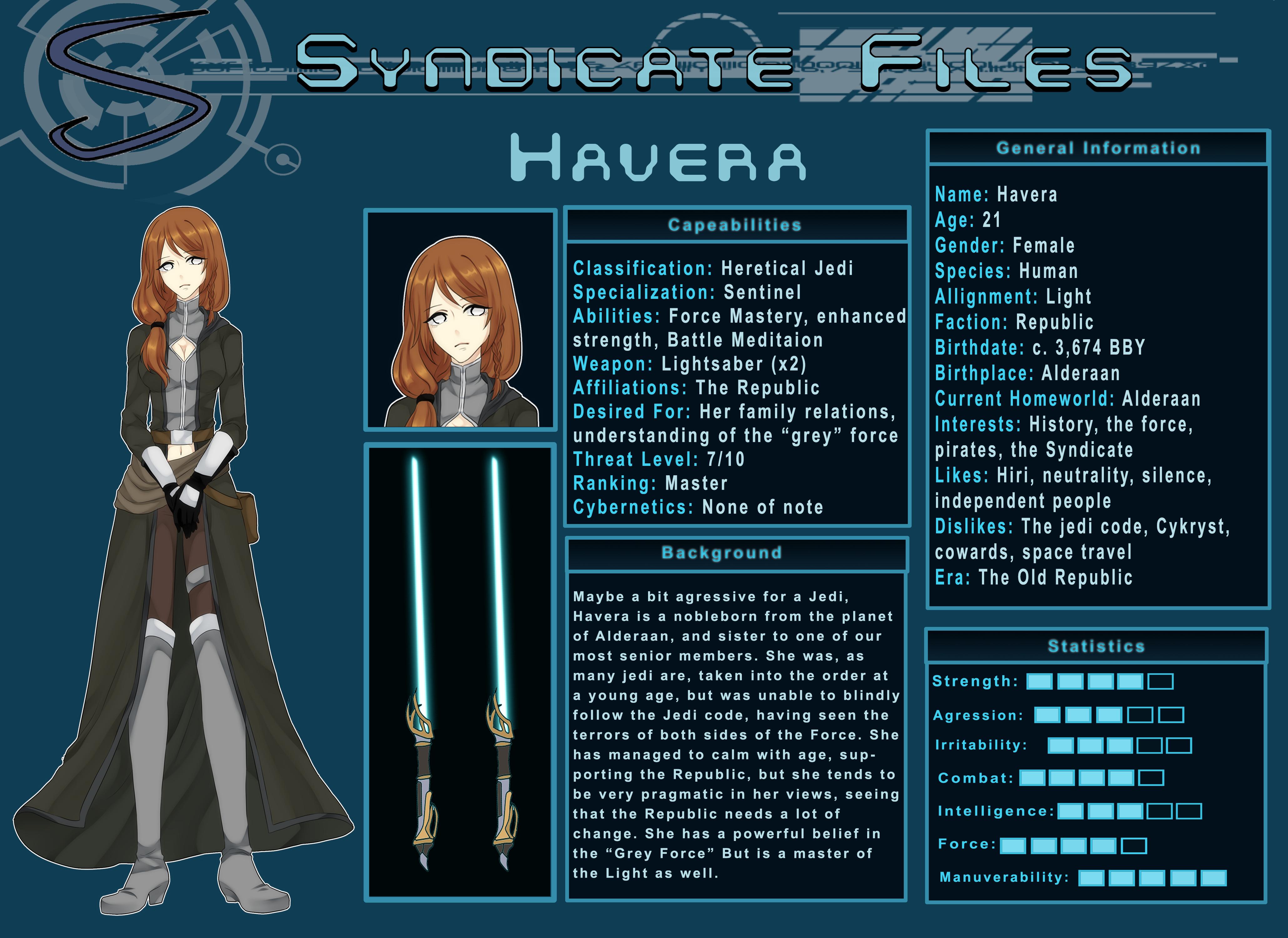 Star Wars OC: Havera Syndicate File by azulann on DeviantArt