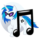 MLP - Vinyl Scratch Icon by SpiritofthwWolf