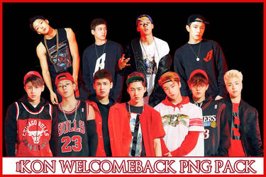 iKON WELCOME BACK PNG PACK