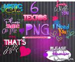 6 Textos PNG