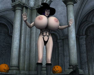 Halloween Big Pumpkins Breast Expansion Animation by grycat20