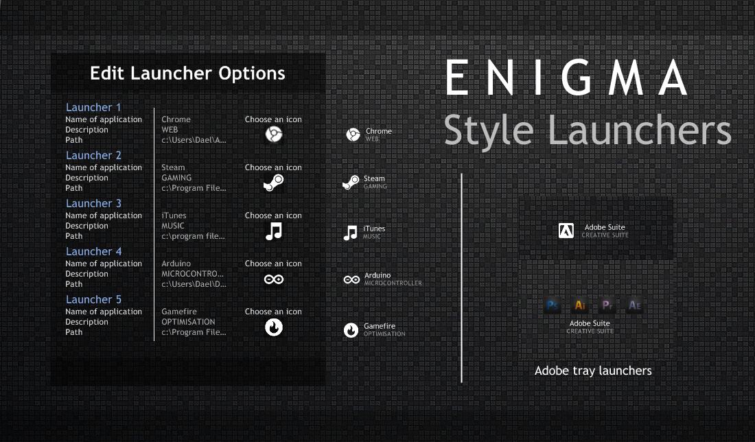 Enigma Style Launchers by Daelnz on DeviantArt