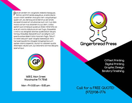 Gingerbread Press Brochure