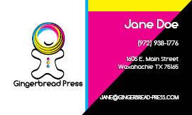 Gingerbread Press Business Card