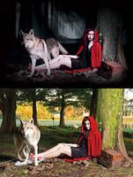Little Red Riding and wolf evil - After and Before