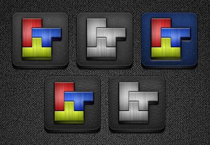 Tetris Icons for Jaku by bblake