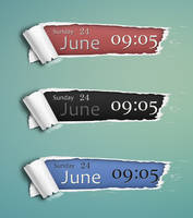 Ripped Paper Date/Time Skin