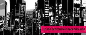 city screentones