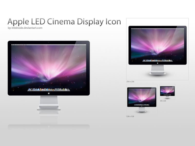 "Apple LED 24"" Display Icon by intelnode"