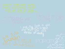 Paramore Lyric Brushes by PatheticPoetically