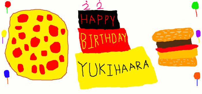 HAPPY BIRTHDAY, YUKIHAARA!!!!!