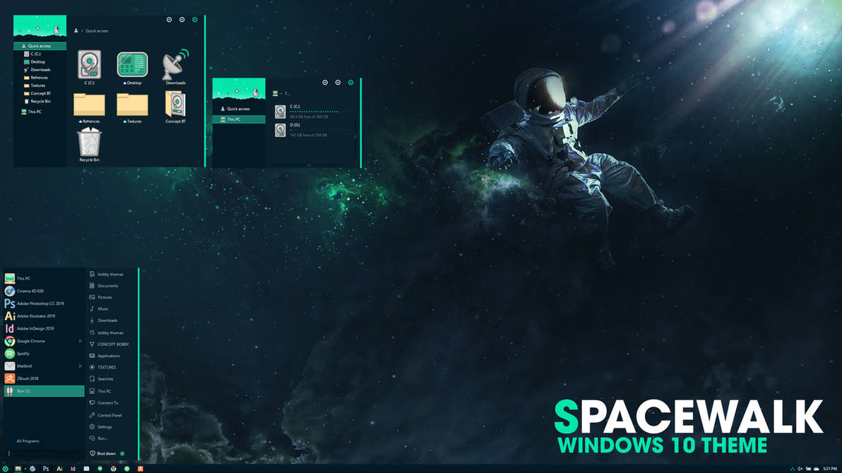 Space Walk Icon Pack