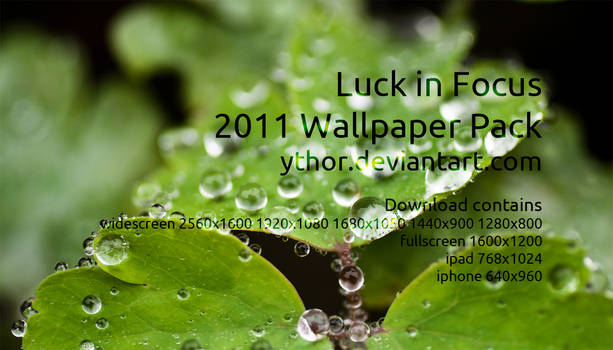 Luck in Focus - wallpaper pack
