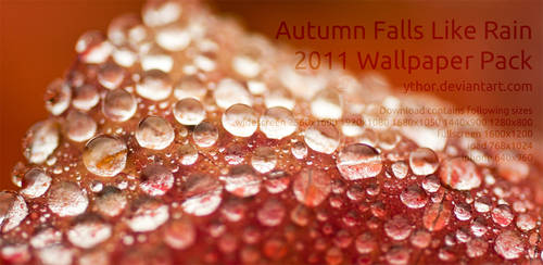 Autumn Falls Like Rain - wallpaper pack