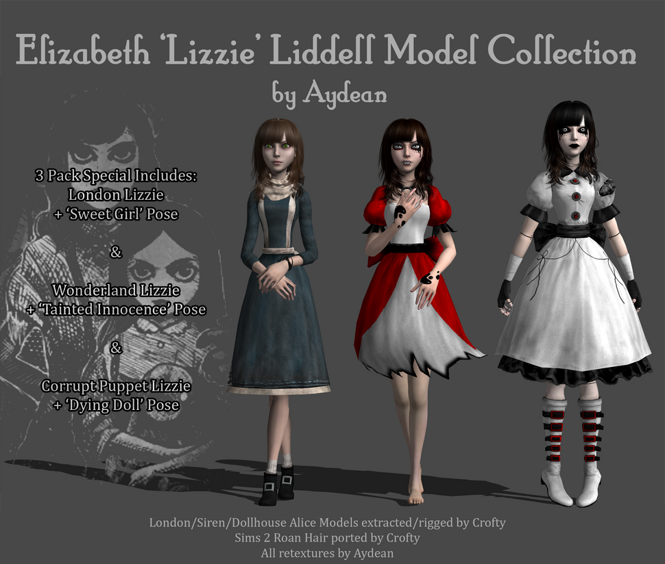 Elizabeth 'Lizzie' Liddell Models - Download by aydean