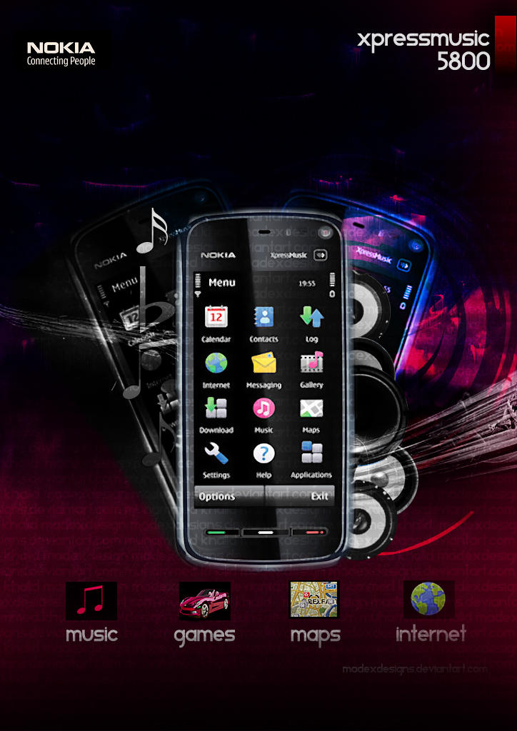 Psd - NOKIA 5800 by MK-Graphics