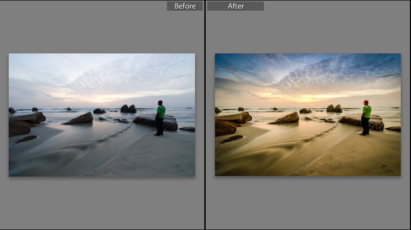 Lightroom Preset of Sun Rising at the beach. by shaffandi