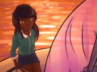On a boat (Eva Rosalene) by HitTheReplayButton