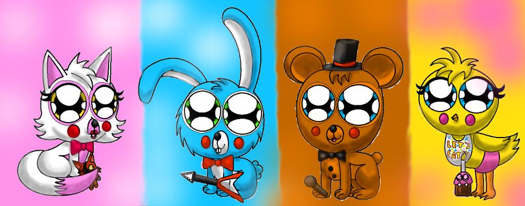 Adorable fnaf team by crystalcutehedgehog on deviantart - Fnaf cute pictures ...