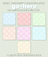 Custom Box BG - Basic Checkered by go-hero