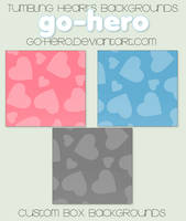 Custom Box BG - Tumbling Hearts by go-hero