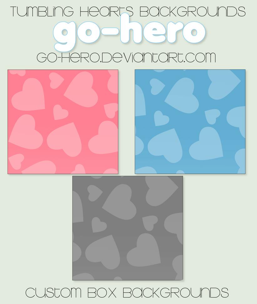 Custom Box BG - Tumbling Hearts by go-hero