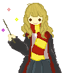 Hermione Granger pixel animation - Click to view by cececharlieee