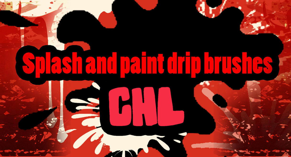 Splash and paint drip brushes by Ctrela