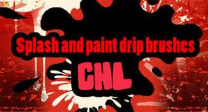 Splash and paint drip brushes